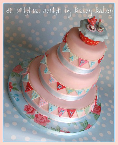 Cath Kidston Tea Party Birthday Cake Our First Ever Stacke Flickr
