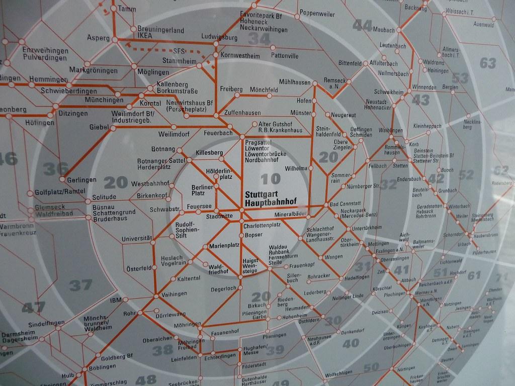 SBahn Map of Stuttgart Michi Catanese Flickr