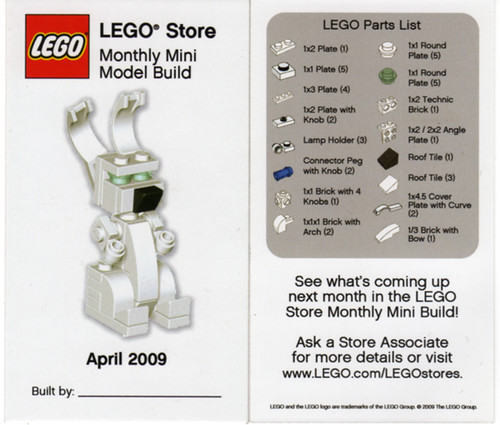 LEGO Store MMMB - April 2009 (Bunny) | LEGO Store Monthly ...