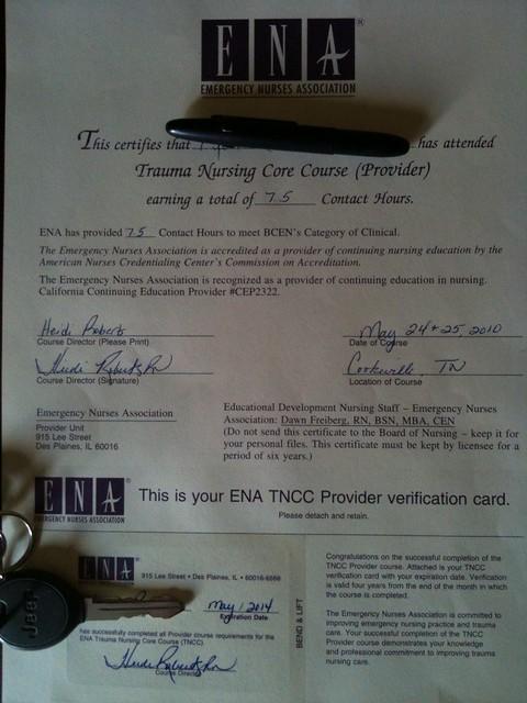 TNCC - Trauma Nurse Core Course, Professional Certificatio… | Flickr