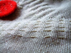 stitch on linen | by makeyourpresentsfelt