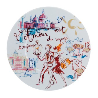 assiette plate en porcelaine collection l 39 amour est touj flickr. Black Bedroom Furniture Sets. Home Design Ideas