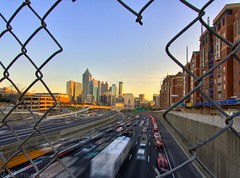 Looking south... Downtown Atlanta Sunset | by HisPhotographs.com
