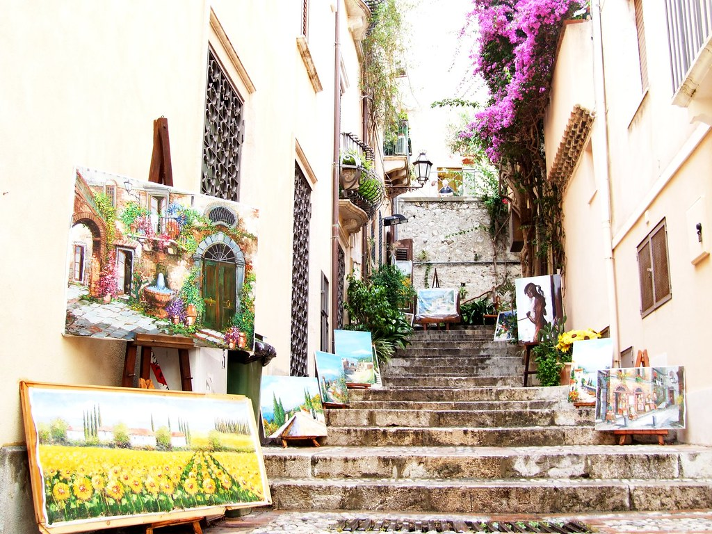 Image result for taormina streets