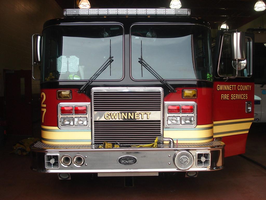 Gwinnett County Fire- Engine 27 | Front view of Gwinnett Cou