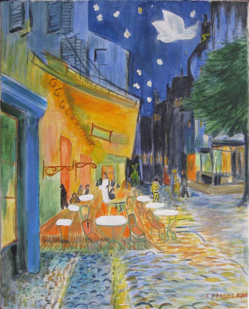 Terrasse De Cafe Le Soir 1888 Vincent Van Gogh Flickr