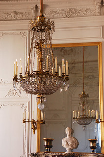 Chandelier mirror and bust - Grand Trianon Versailles | by Monceau