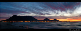 Sunset over Table Mountain | by Warren T