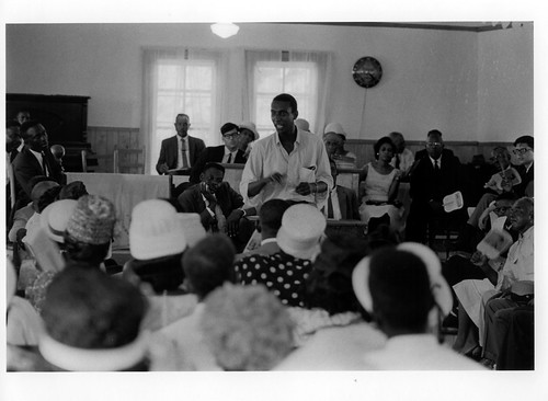 Stokely at mass meeting in Lowndes County (Summer 1965) | by BloodyLowndes