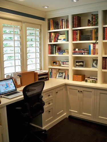 Home offices custom living solutions flickr Study table facing window