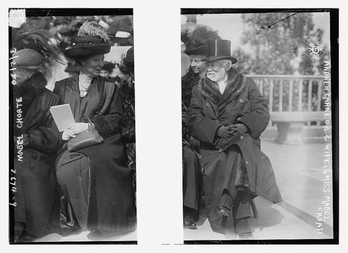 Andrew Carnegie and wife, and Mabel Choate  (LOC) | by The Library of Congress