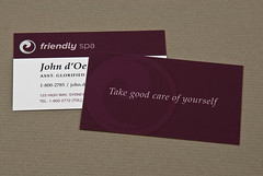Peaceful Spa & Recreation Center Business Card | by inkdphotos