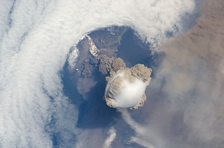 Amazing Sarychev Volcano - as seen from space | by NASA Goddard Photo and Video