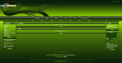Free Green Wave Web2.0 php-fusion Theme Template | Get it Fr… | Flickr