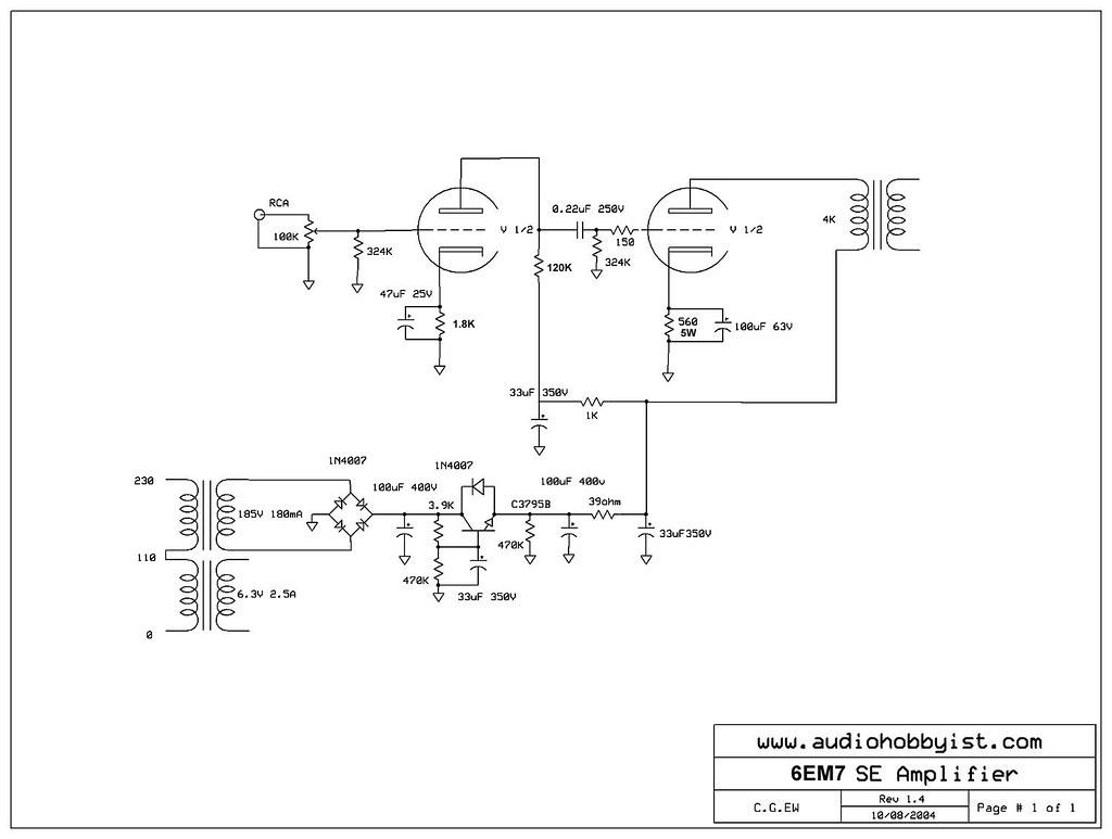 6em7 Tube Amplifier Schematics 1287x971 34656 Flickr Amp By