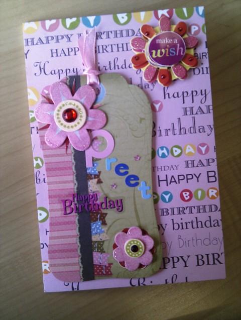 Preet Handmade Birthday Card Its My Friend Preets Birthd Flickr
