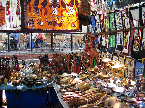 South african arts and crafts at the green market in for African arts and crafts