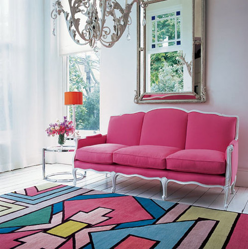pink blue living room | Heidi | Flickr