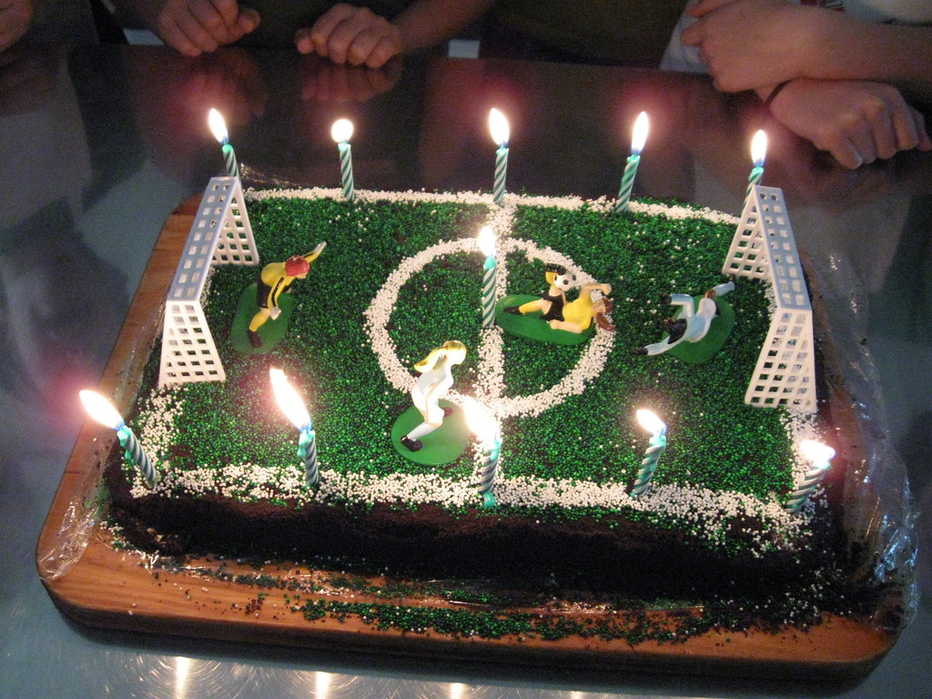 Homemade Soccer Ice Cream Cake By Daddy Jpotisch