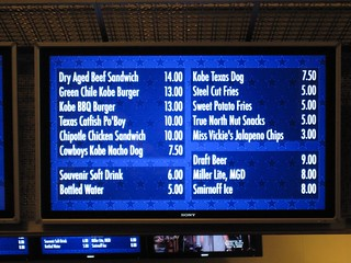 Concession menu at the new Cowboys Stadium | by j_fagner
