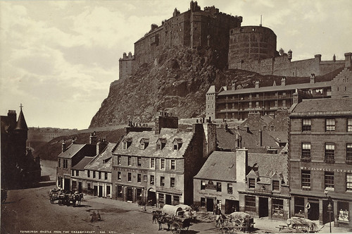 Edinburgh Castle From The Grass Market Collection A D