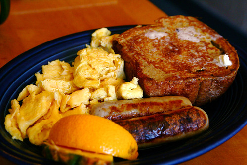 French Toast Sausage Eggs Breakfast 6-14-09 -- IMG_7269 | by stevendepolo