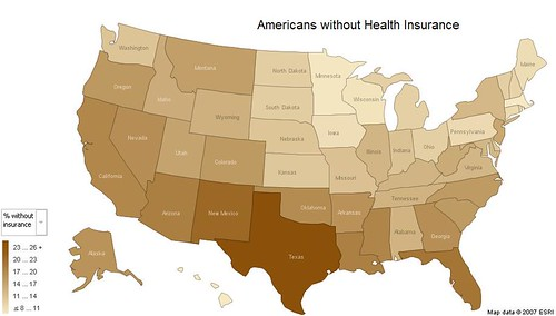 Americans w/o Health Insurance | by robshell