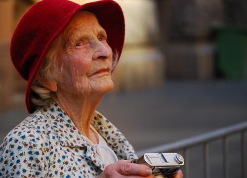 古いドイツの女性