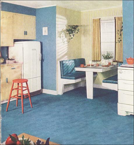 Retro Linoleum Kitchen Flooring: This Was Taken From A Relatively
