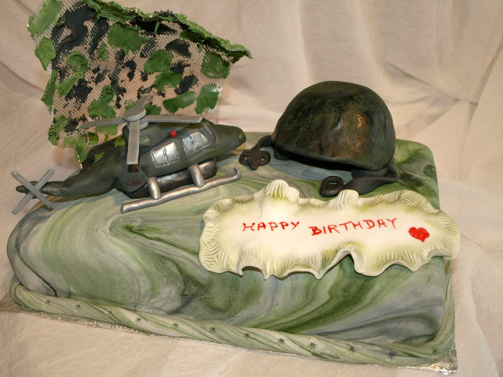 Army birthday cake Gabriella Army birthday cake for a Flickr