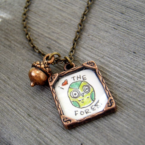 Art and acorn necklace i the forest mini mini min for Acorn necklace craft