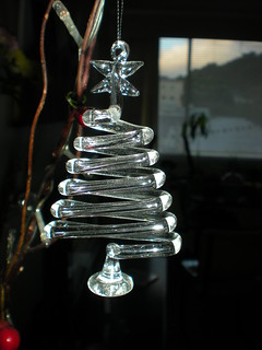 07.03.09 - The cute little glass xmas tree that hangs in my lounge | by Vitamin-K