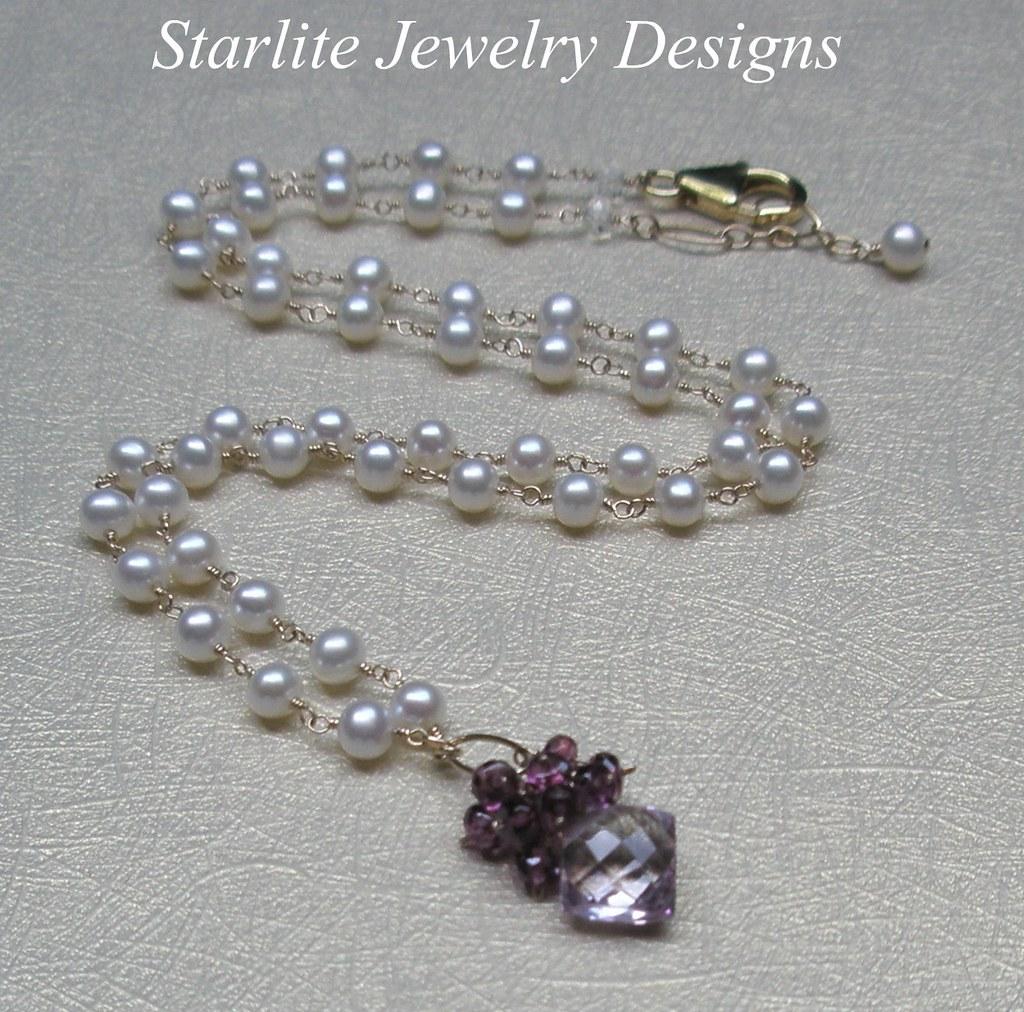 Starlite Jewelry Designs Briolette Necklace Jewelry De Flickr