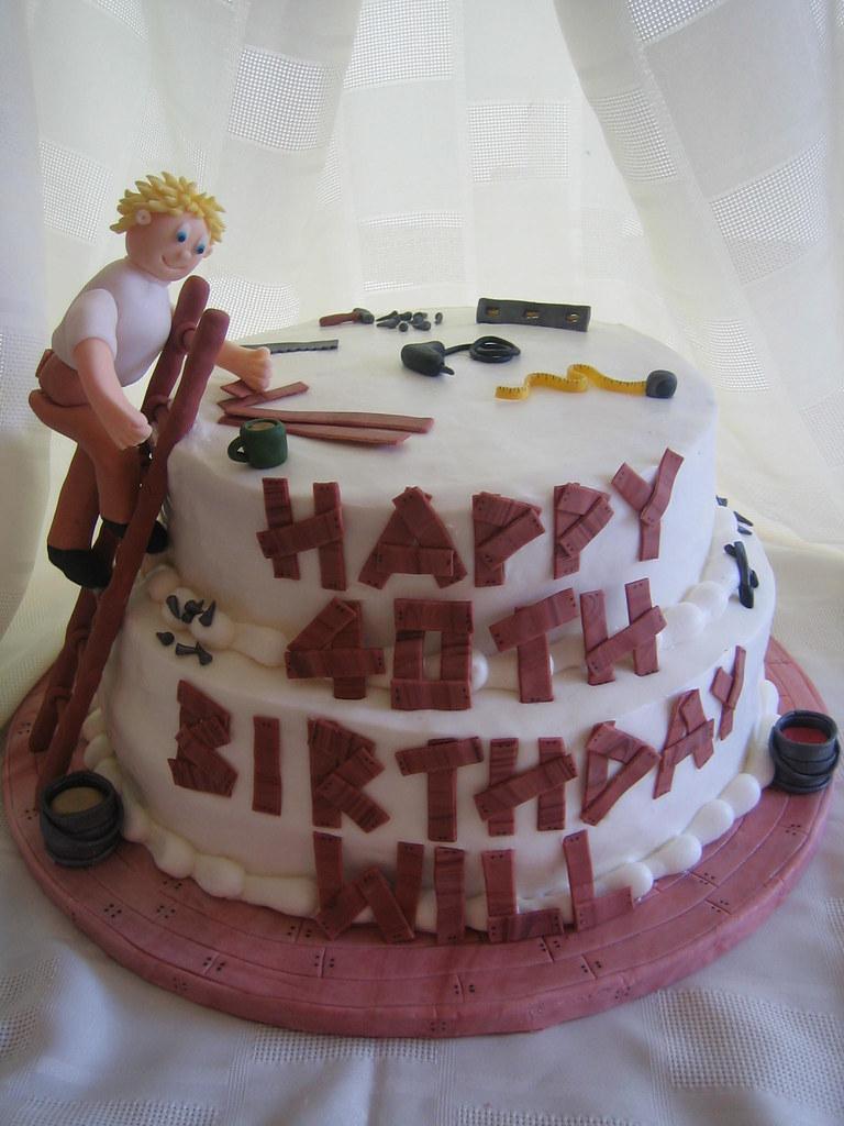 Handyman Birthday Cake Handyman Birthday Cake With Fondant Flickr