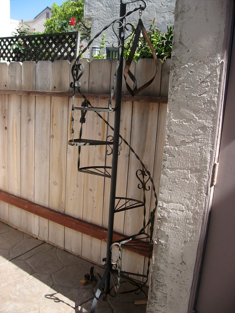 ... Wrought Iron Spiral Staircase Plant Stand | By Sunnysandiegan