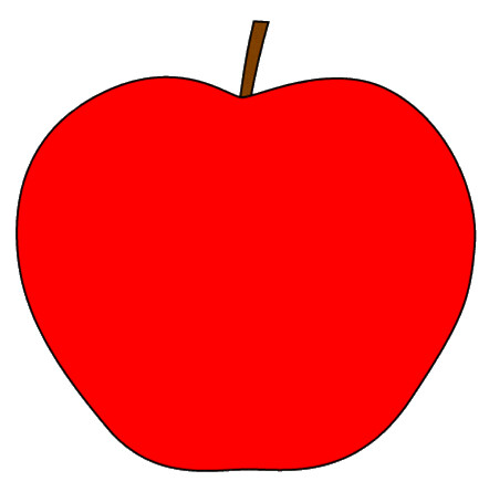 red apple with stem clipart sketch op lge 11 cm this clip flickr rh flickr com red apple tree clipart bitten red apple clipart
