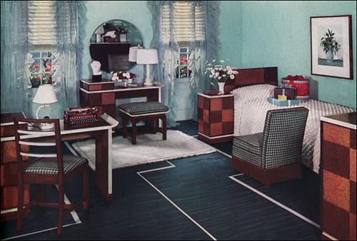 1930s Bedroom Design This 1934 Quot Modern Girl S Quot Bedroom