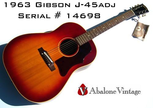 vintage 1963 gibson j 45adj acoustic guitar near mint wit flickr. Black Bedroom Furniture Sets. Home Design Ideas
