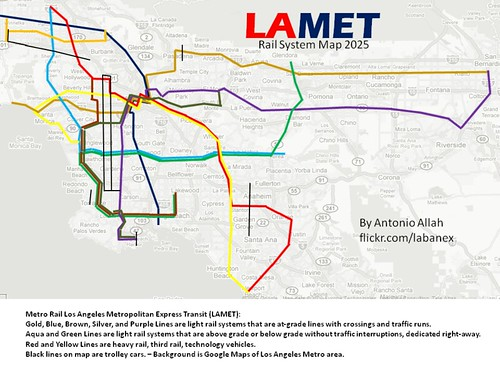 Lamet 2025 Fiction Rail System Map Metro Rail\u2026 Flickr: Los Angeles Rail Map At Infoasik.co