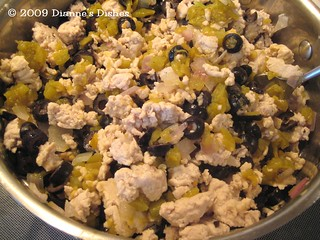 Mexican Casserole: Ground Turkey, Onions, Chile Peppers and Black Olives | by Dianne's Dishes