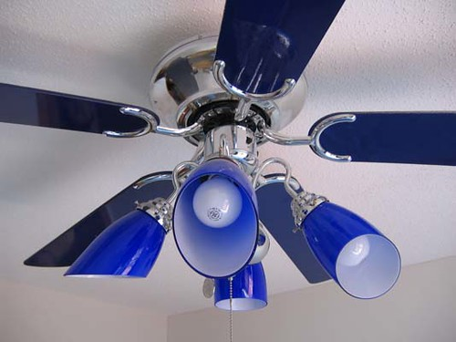 cobalt blue ceiling fan/light | Trixie Morgan | Flickr