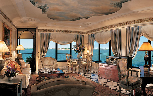 Hotel Cipriani, Venice, Italy, Living Room | by Ithip.com Hotel Collection