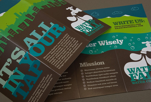Graphic Water Company Brochure | by inkdphotos