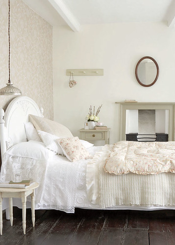 Bedroom with wooden floors | by The Little Greene Paint Company