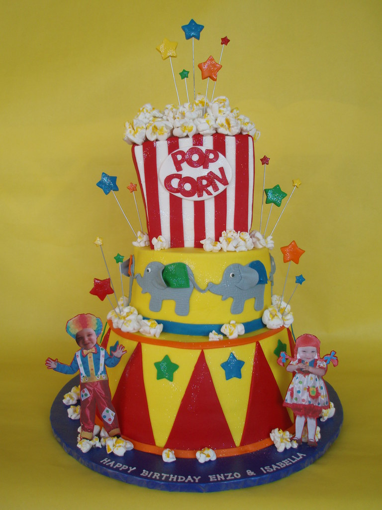 Circus Carnival Themed Birthday Cake Fashioned After A Cak Flickr