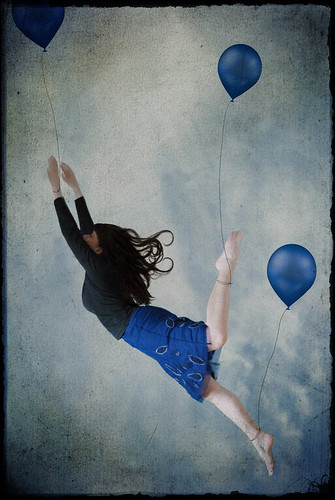 blue balloon | by -justk-
