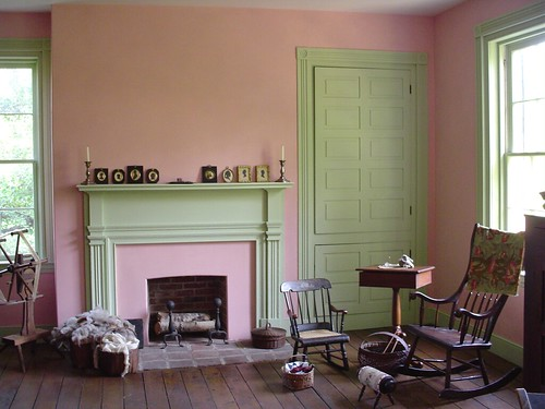 Pink Green Interior Milk Paint In Historic Home