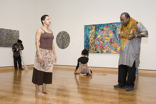 Ta-coumba Aiken and dancers in the MAEP Gallery | by Minneapolis Institute of Art