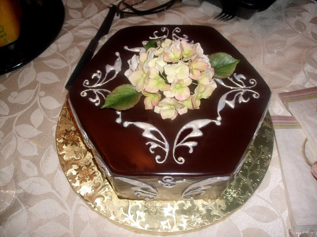 55th Chocolate Ganache Birthday Cake