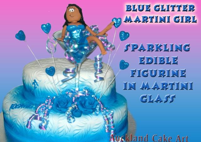 BLUE GLITTER MARTINI GIRL 21ST BIRTHDAY CAKE NEW ZEALAND Flickr